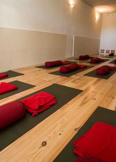 Yogazaal in Spiritueel Centrum One